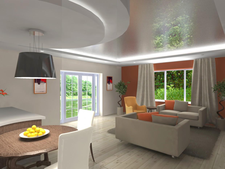 варианты гостиной в 3d max vray изображение