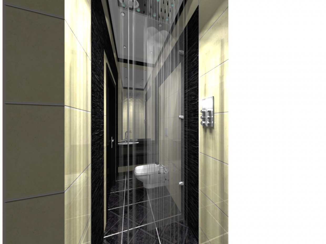 hotel wc in 3d max vray image