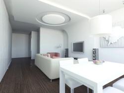 एक कमरे में रहने का डिजाइन