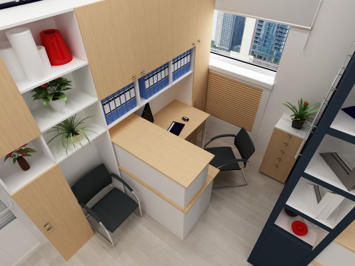 Office in 3d max vray image