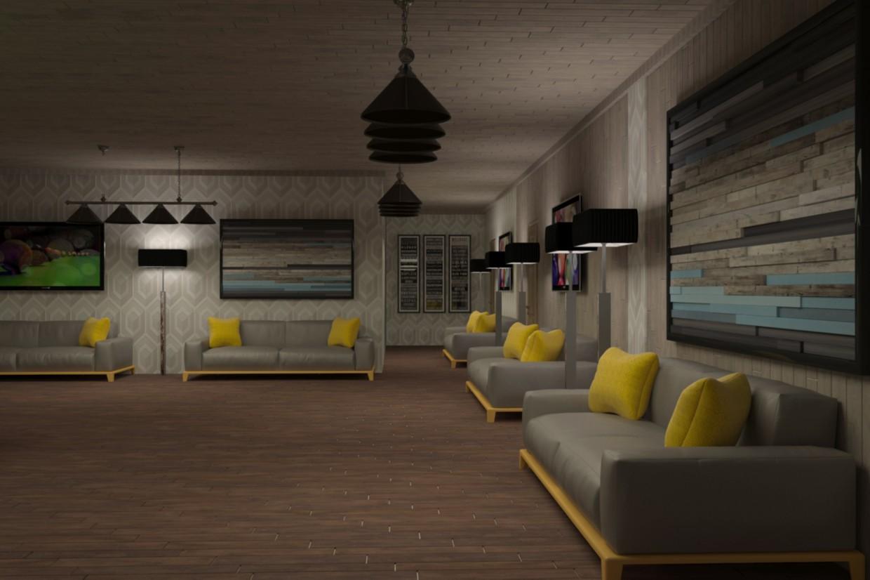 Billiard Club in 3d max vray image
