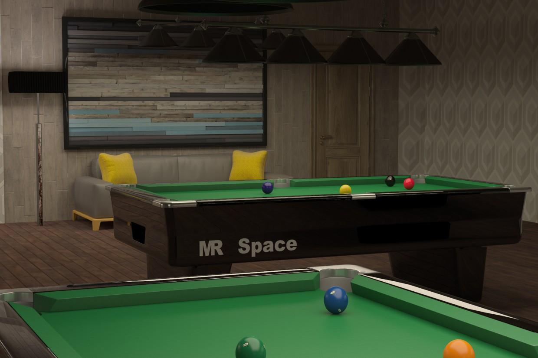 Бильярдный клуб в 3d max vray изображение