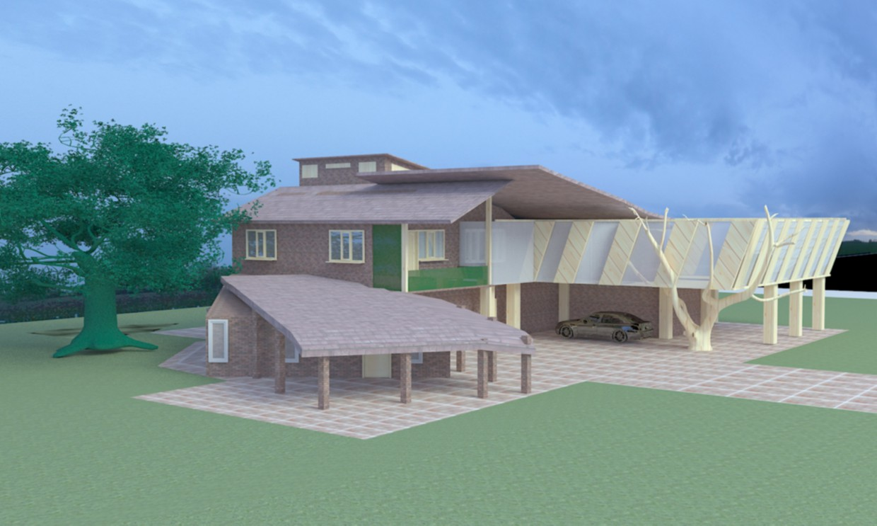 Big house in 3d max vray 3.0 image