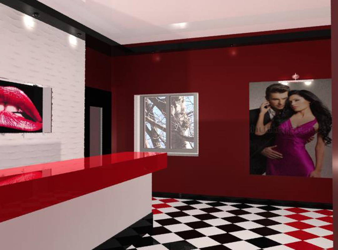 Hallway in a hotel in 3d max mental ray image