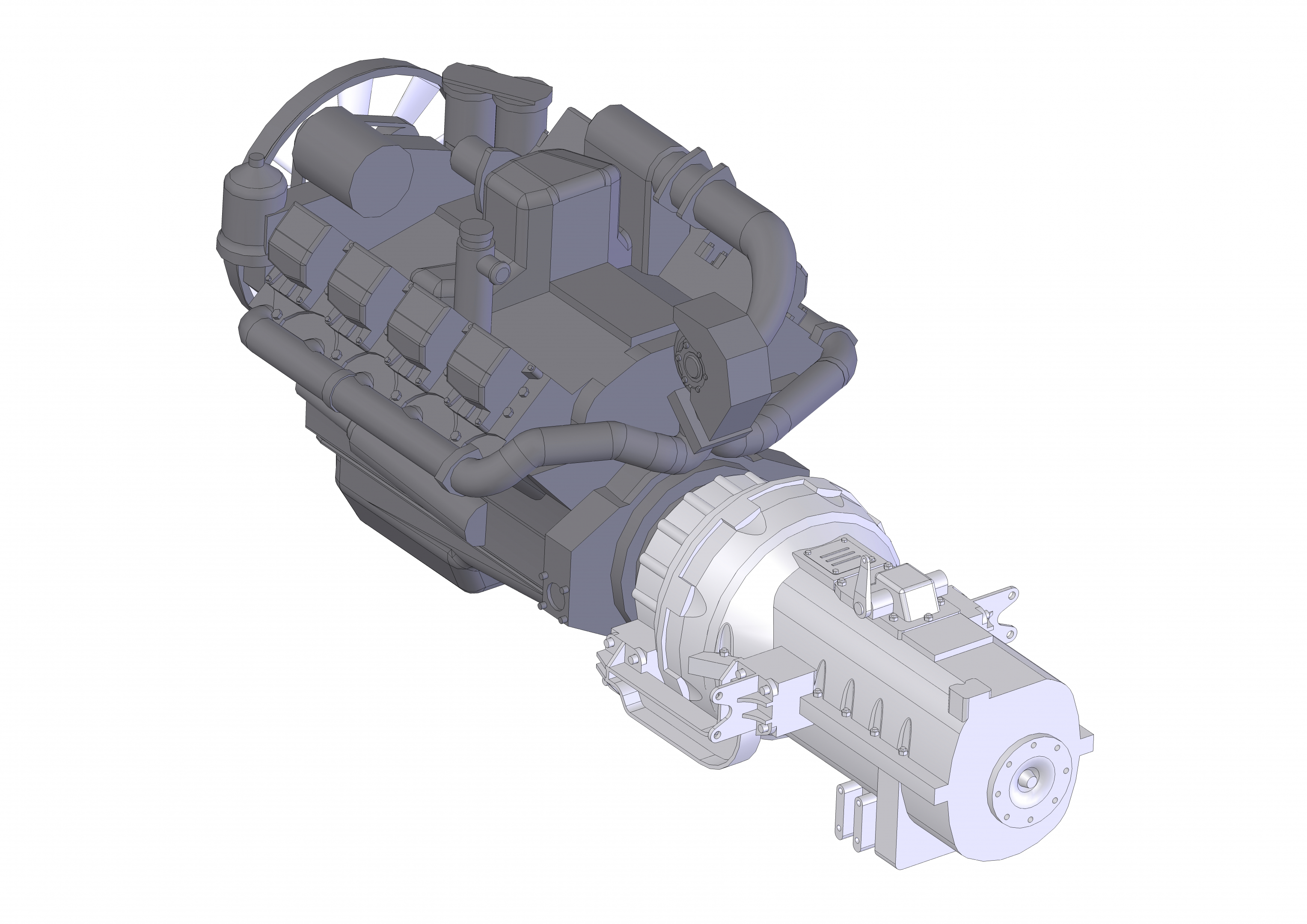 YaMZ-846 in SolidWorks Other image