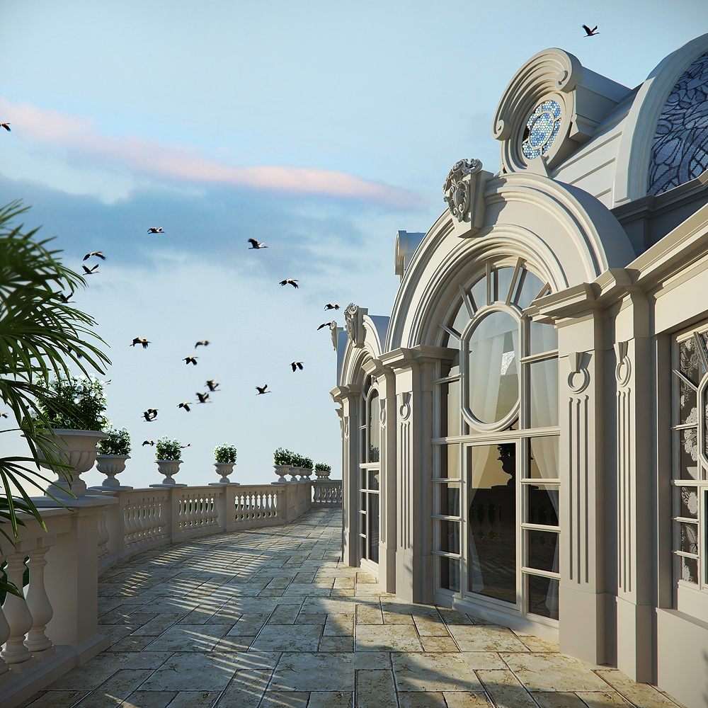 The project in Sochi in 3d max corona render image