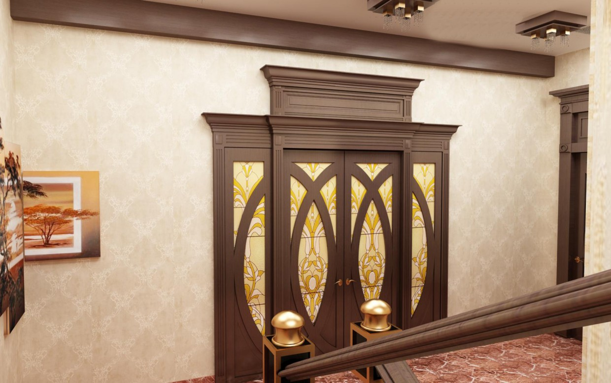 A hotel entrance in 3d max vray image