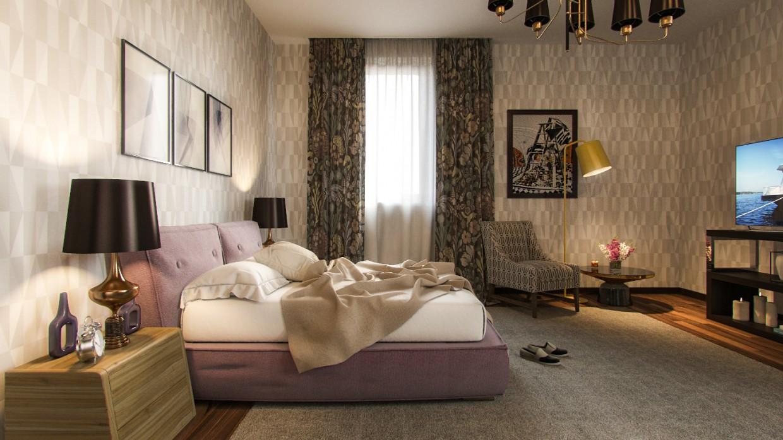Grandma's room  in  3d max   corona render  image