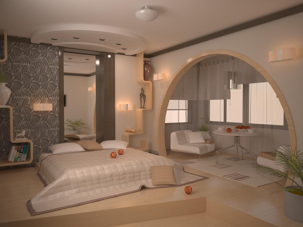 Begroom, 15 sqr m in 3d max vray image