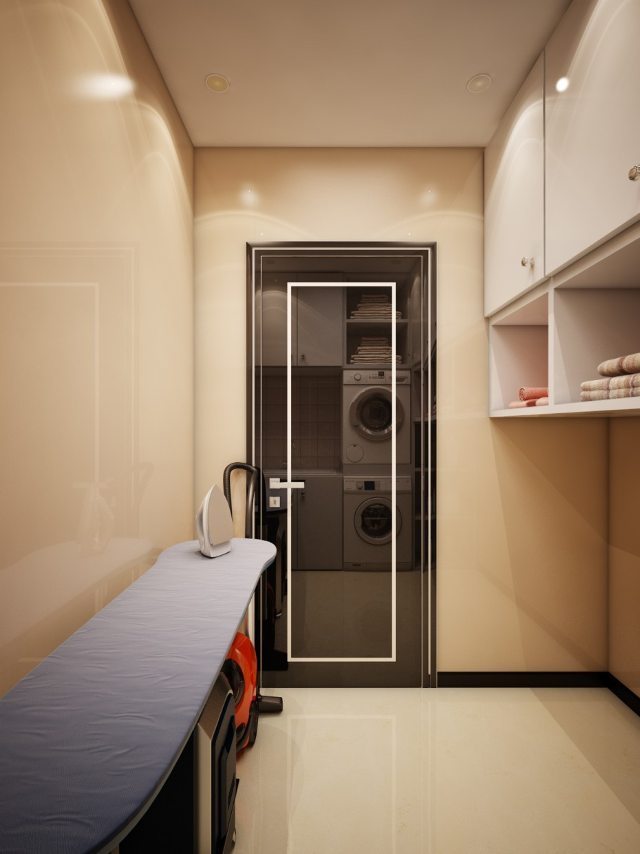 Utility room in 3d max vray image