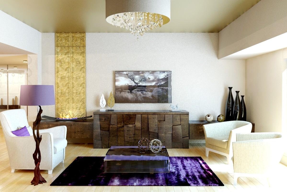 Livingroom in 3d max vray image