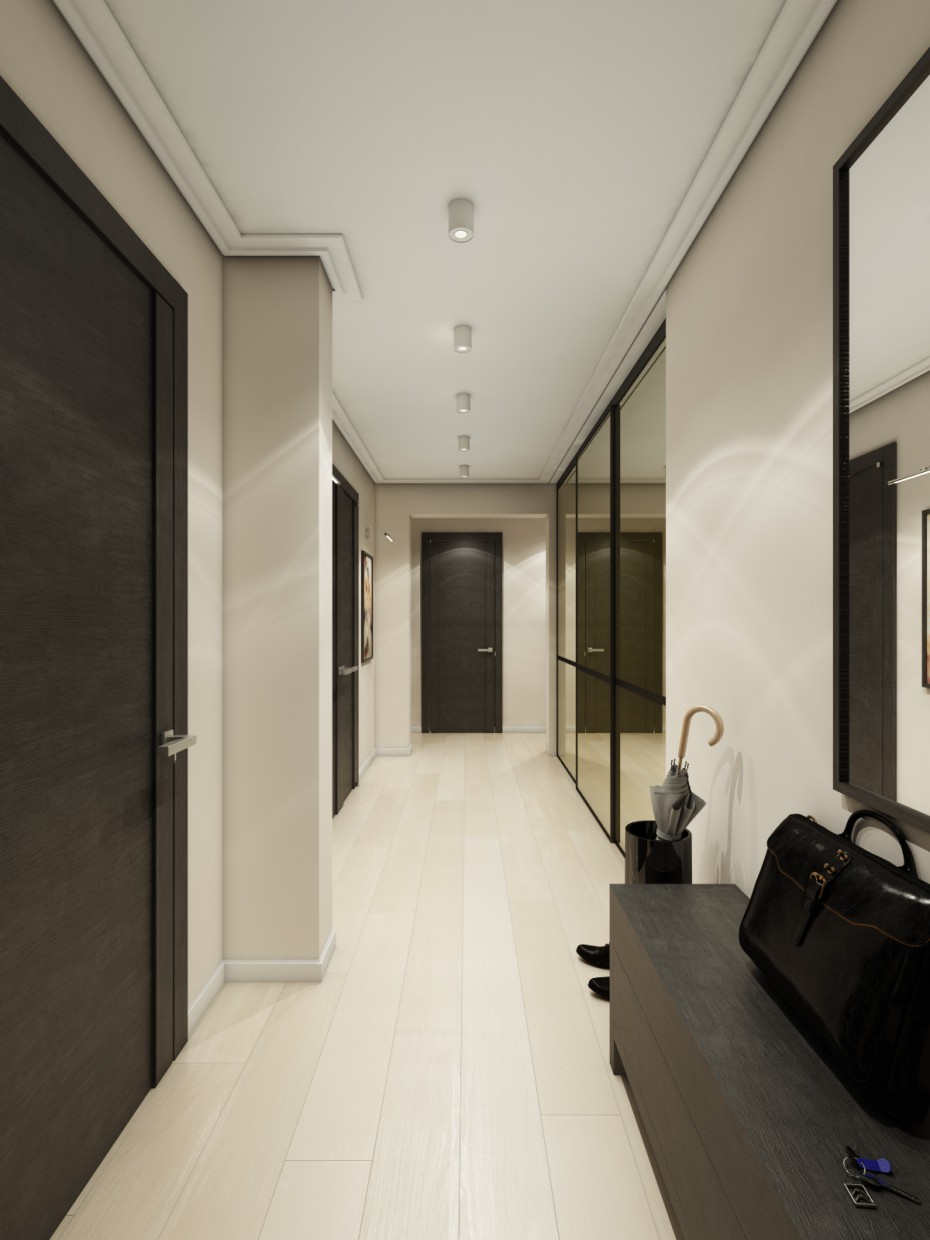 3d visualization of the project in the Hallway 3d max, render vray of Козак Александр