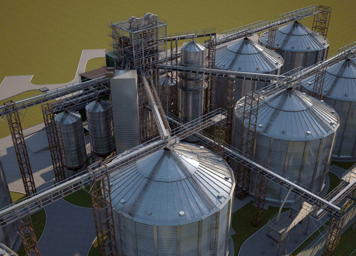 Objects of agricultural industry in 3d max vray image
