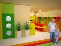 Gli interni della scuola dell'infanzia