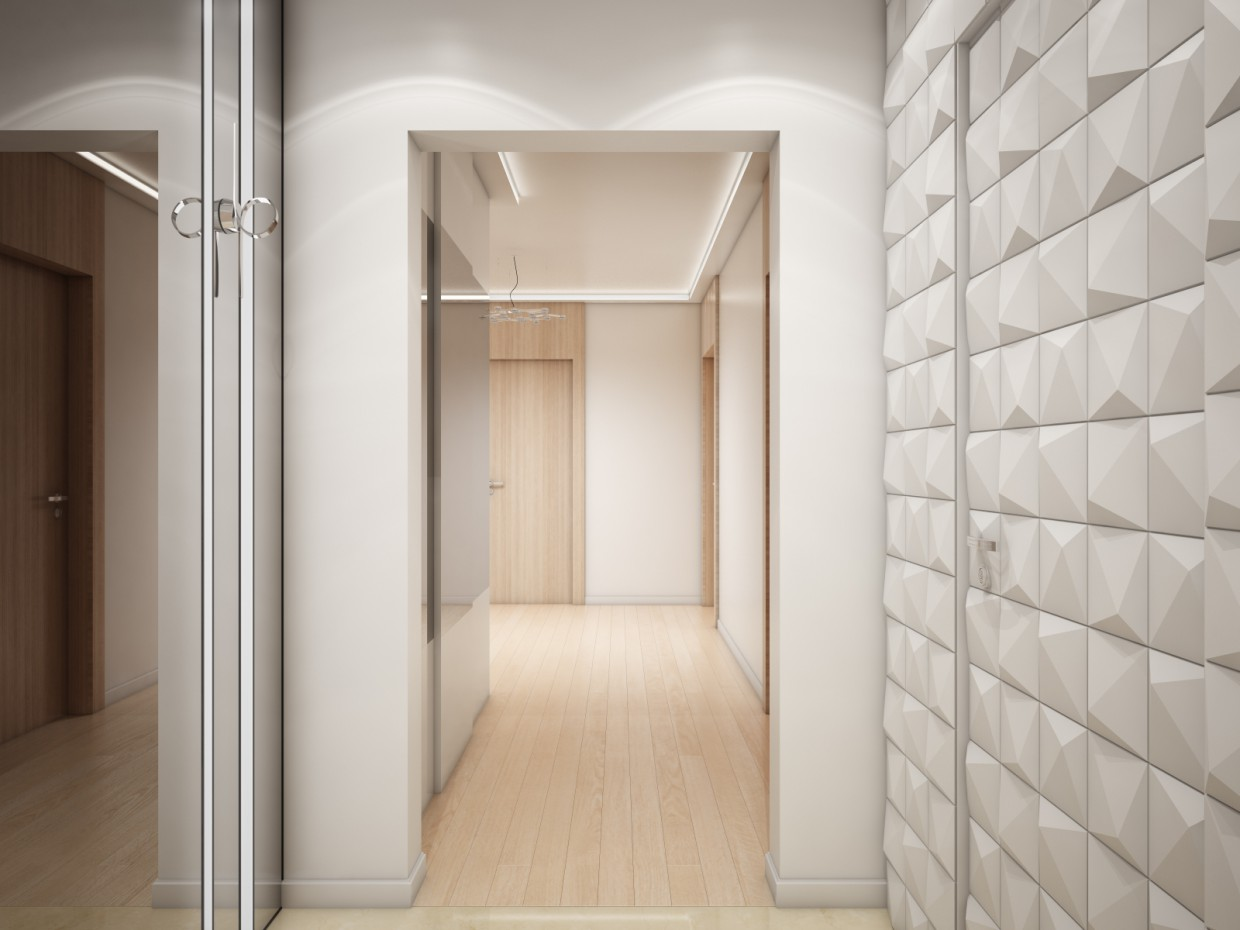 Hall  in  3d max   vray  image