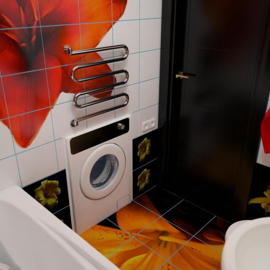 imagen de baño de lirios en 3d max vray