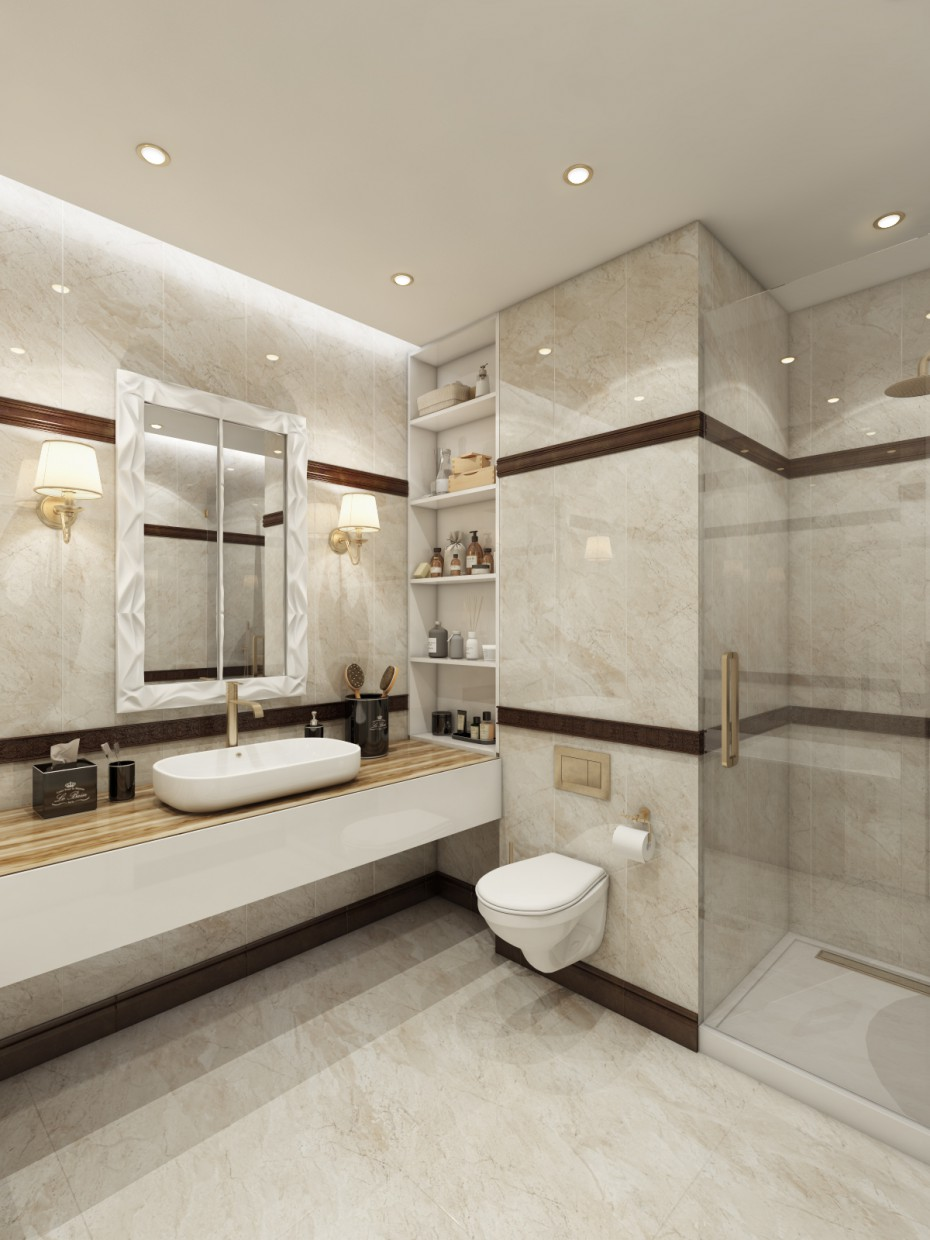 3d visualization of the project in the Lavatory 3d max, render vray of Козак Александр