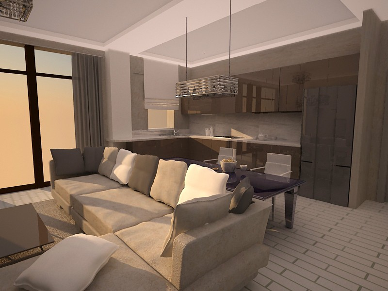 Residential Interior design  in  3d max   vray  image