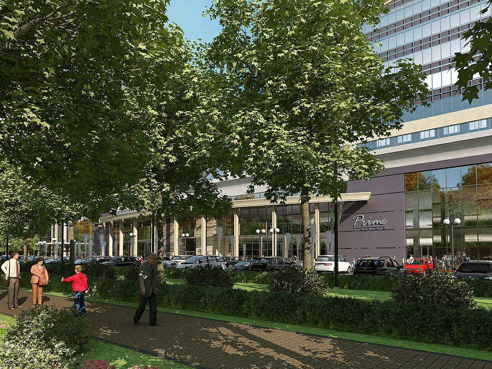Shopping center in Kazakhstan in Blender cycles render image