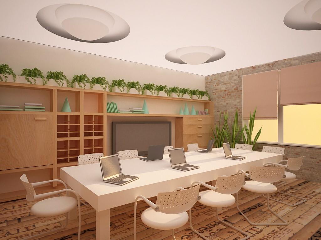 Интерьер аудитории в институте в 3d max vray изображение