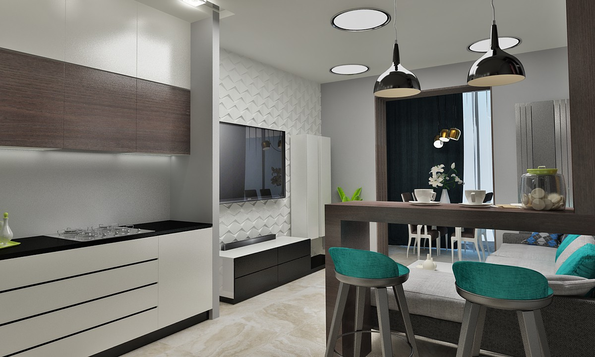 Apartment for a young guy in 3d max vray 2.5 image