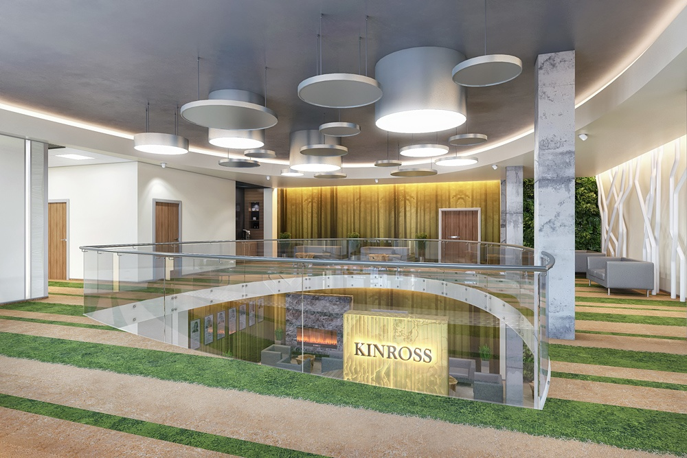 "Office of the company ""KINROSS"" (part 1) in 3d max corona render image"