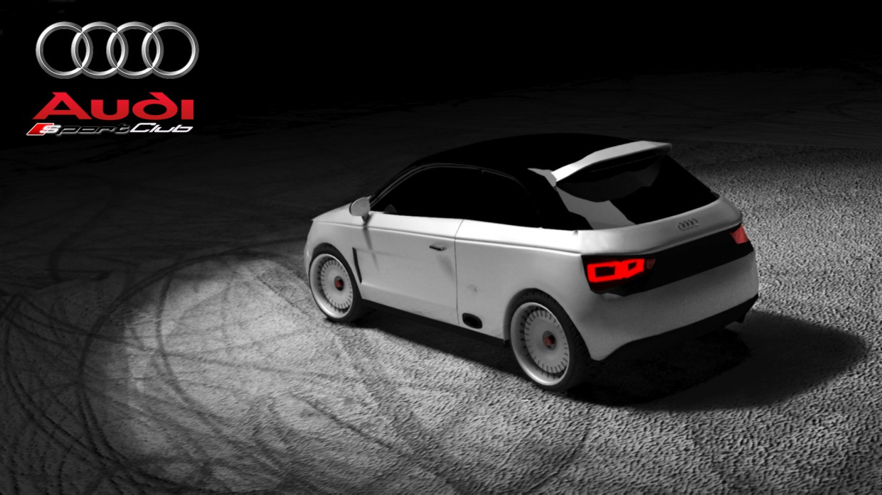 Audi A1 sports club in 3d max vray image
