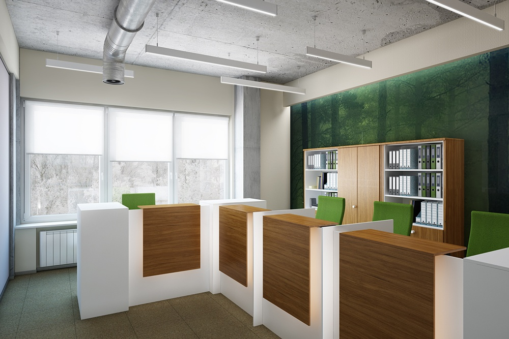"Office of the company ""KINROSS"" (part 2) in 3d max corona render image"