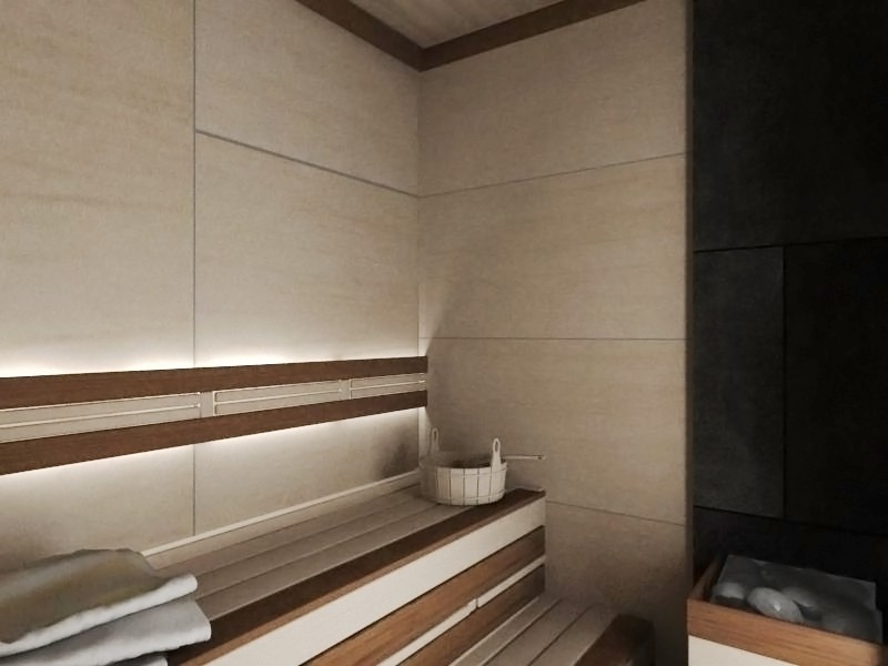 Sauna in 3d max vray image