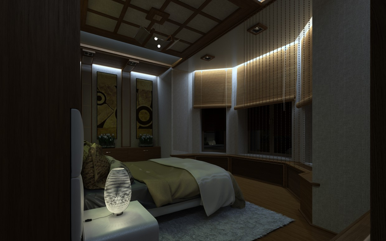 Bedroom Interior in 3d max vray image