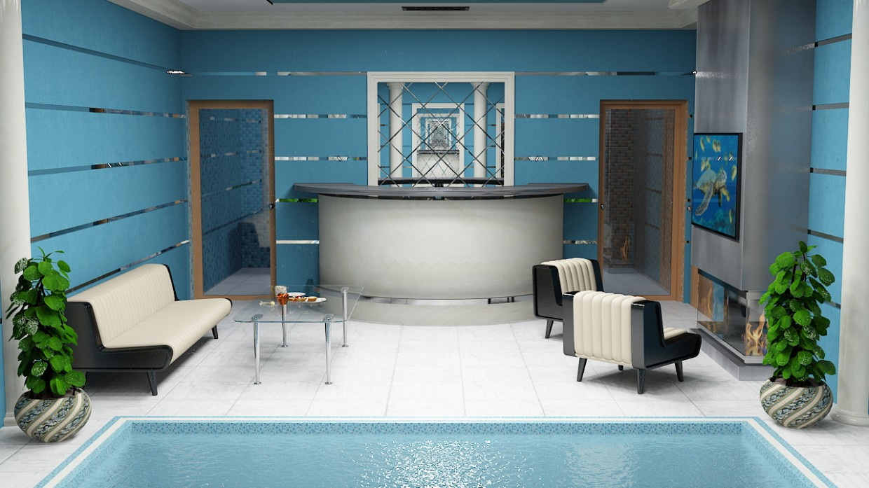 pool in 3d max vray 2.0 image