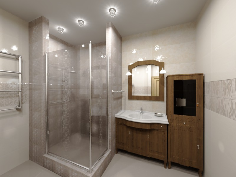 3d visualization of the project in the bathroom 3d max, render vray of filonya