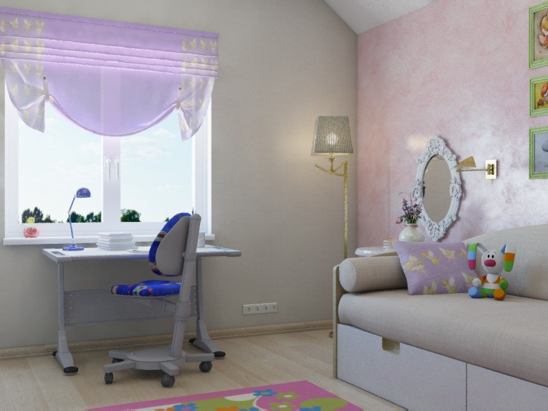 visualización 3D del proyecto en el Casa, bebé. 3d max render mental ray Xrum