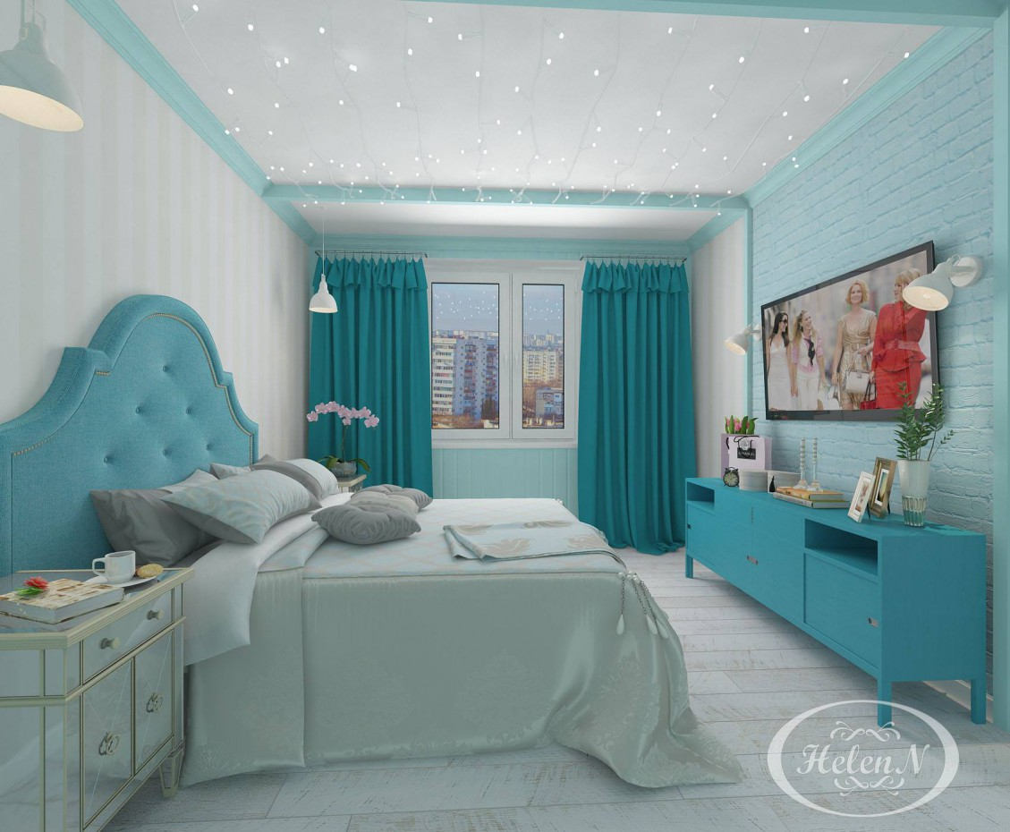 Visualization of theq bedroom in 3d max vray 2.5 image