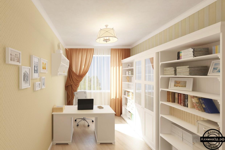 Квартира 64 кв.м. в Горно-Алтайську в 3d max vray зображення