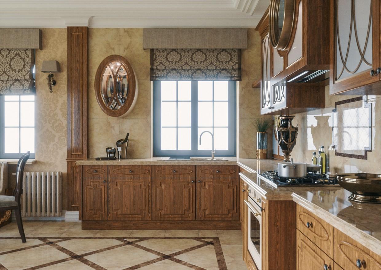 Кухня в класиці в 3d max Other зображення