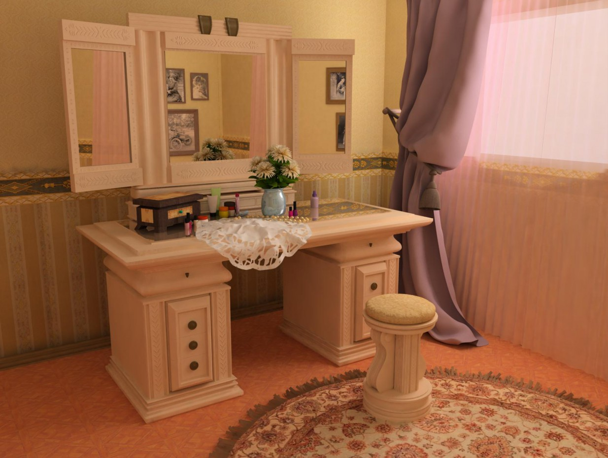 mirror in 3d max vray image