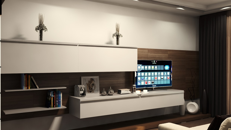 Квартирка в стилі мінімалізм в 3d max vray зображення
