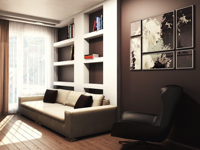 imagen de Apartamento en el estilo de minimalismo en 3d max vray