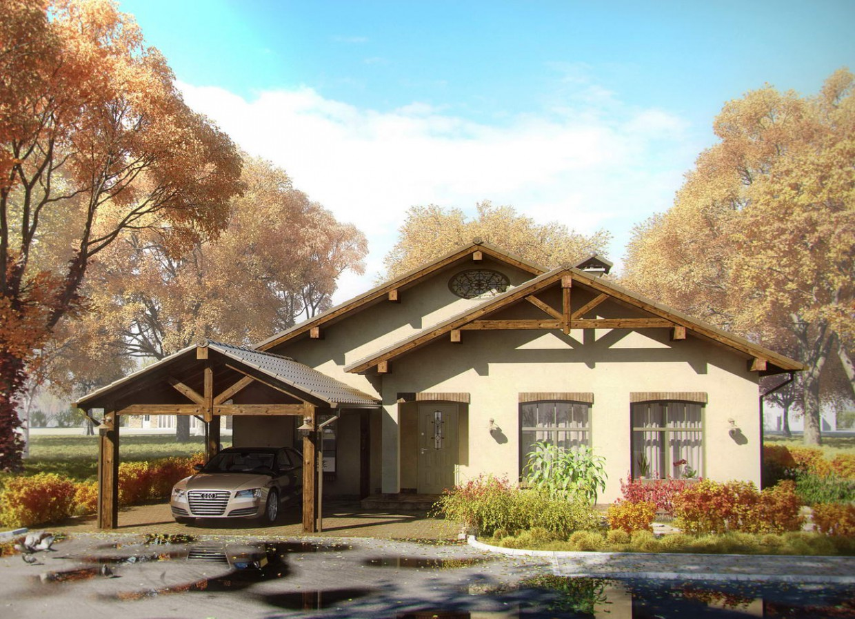 house в 3d max vray изображение
