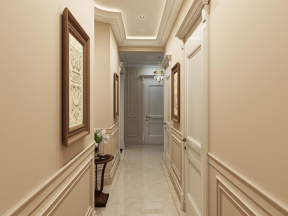 Classic interior of the apartment in 3d max corona render image