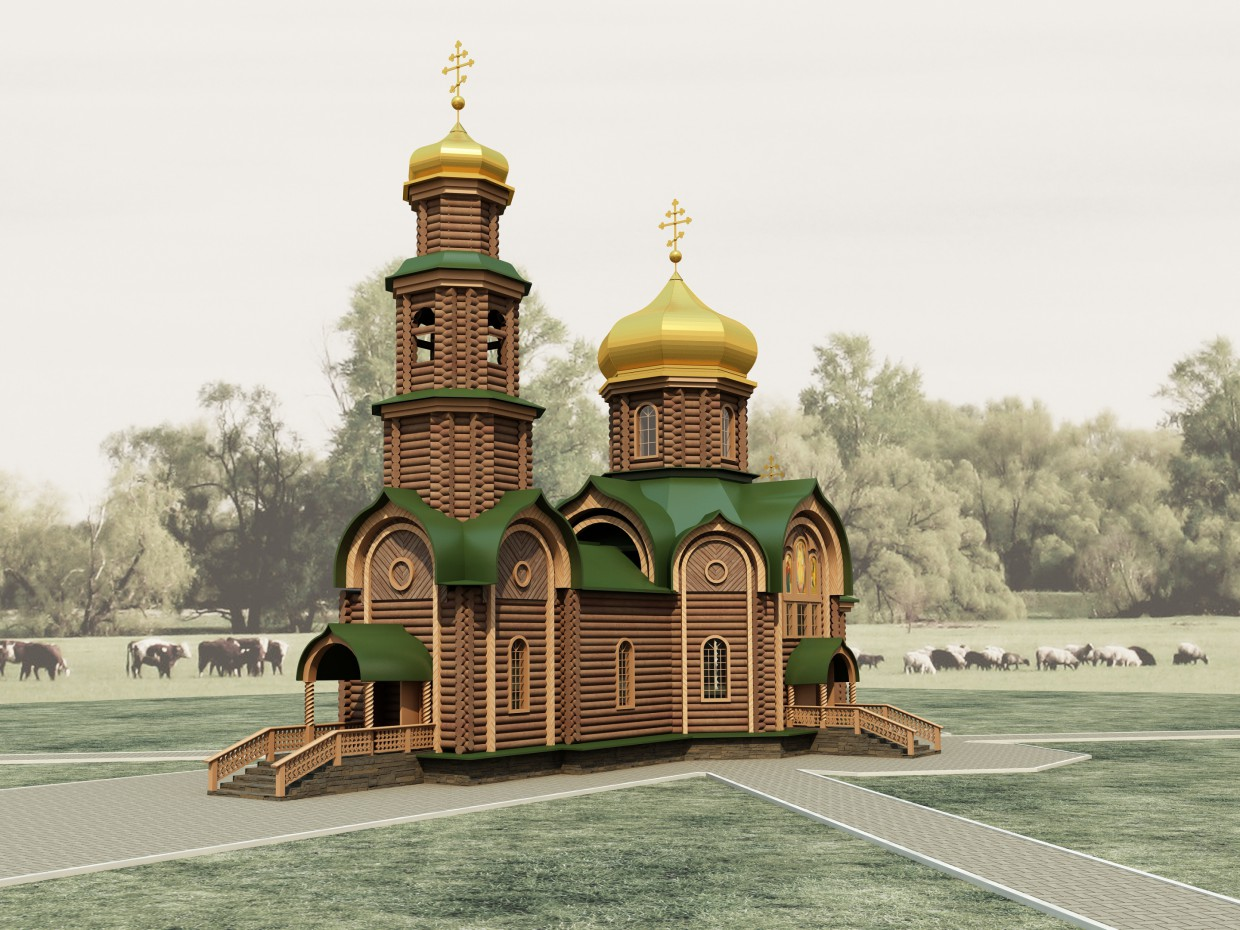 3d visualization of the project in the Holy Trinity Church 3d max, render vray 2.0 of anmay