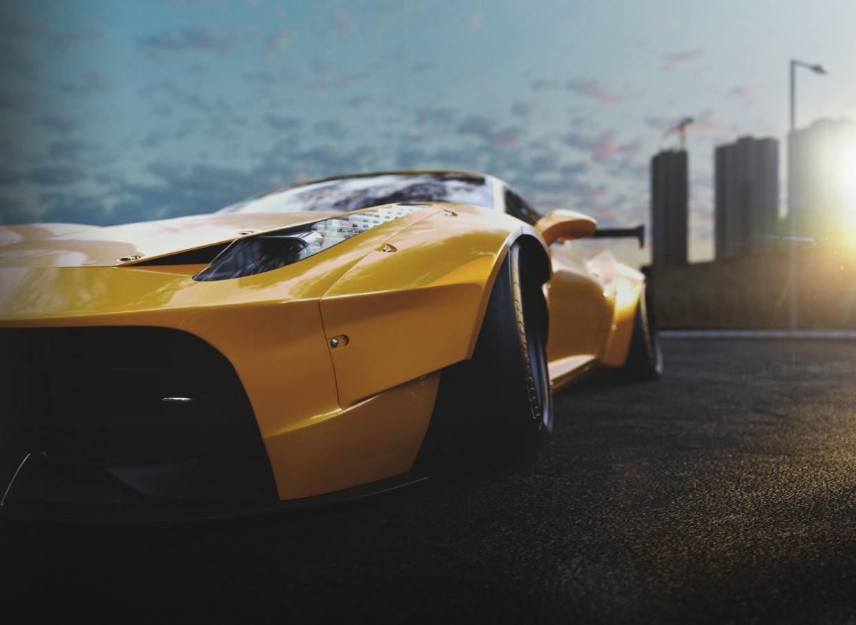 3d візуалізація проекту Ferrari 458 в 3d max, рендер corona render від deadly_dragon