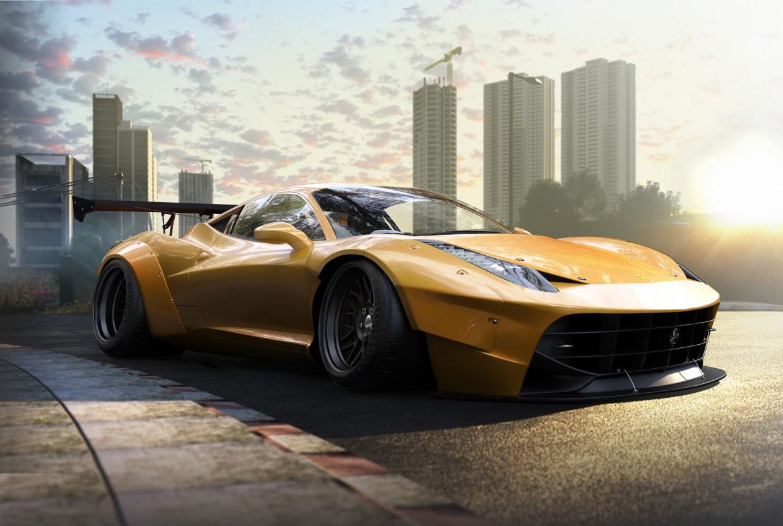 Ferrari 458 in 3d max corona render image