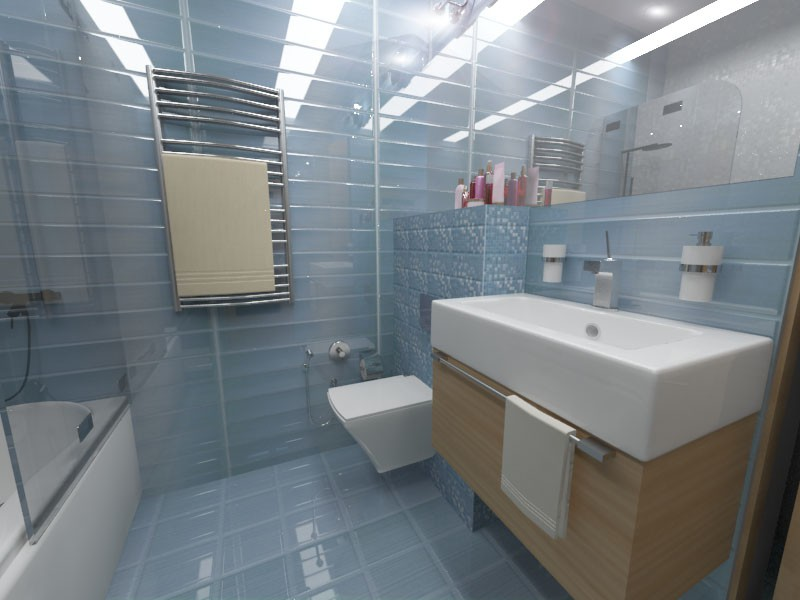 Sanitary unit in 3d max vray image