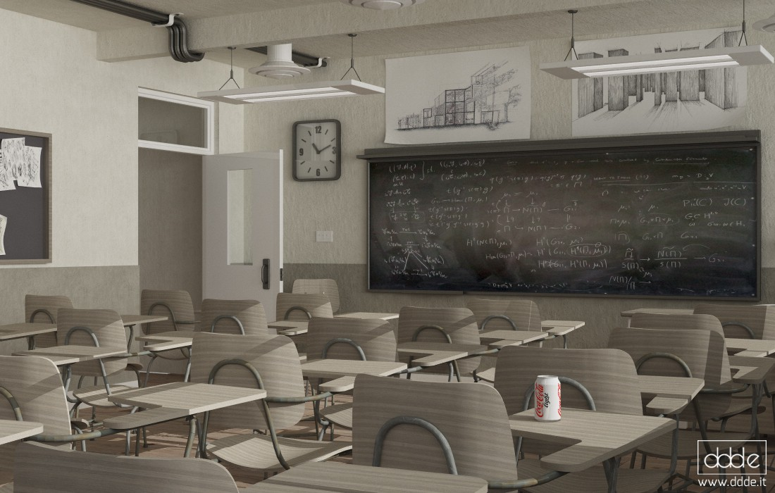 Classroom... in Cinema 4d vray image