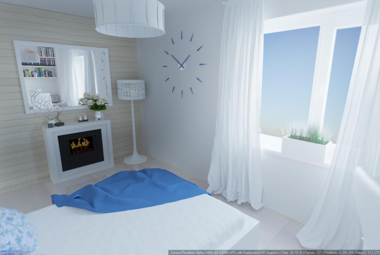 Спальня в 3d max corona render зображення