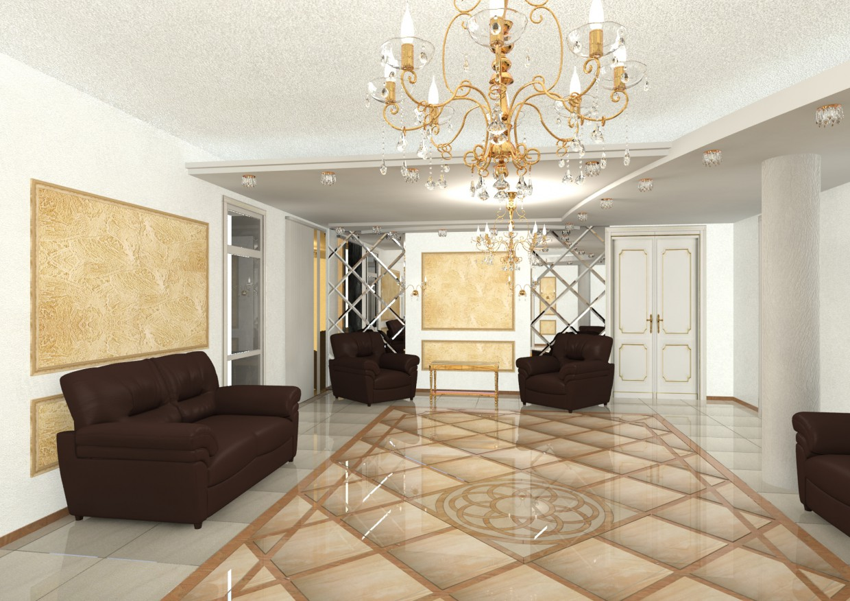 Airport Vip lounge in 3d max mental ray image