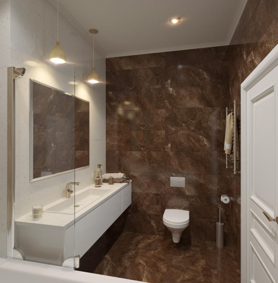 visualización 3D del proyecto en el Cuarto de baño 3d max render corona render winter