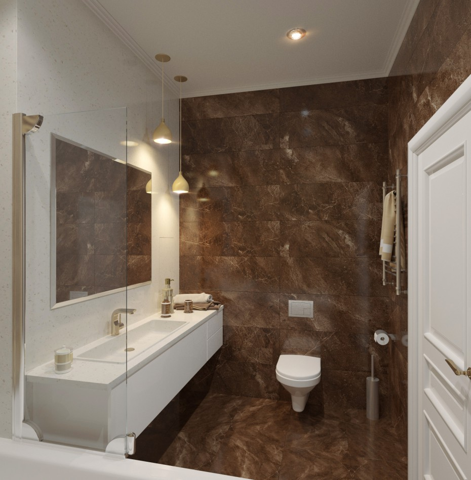 Bathroom in 3d max corona render image